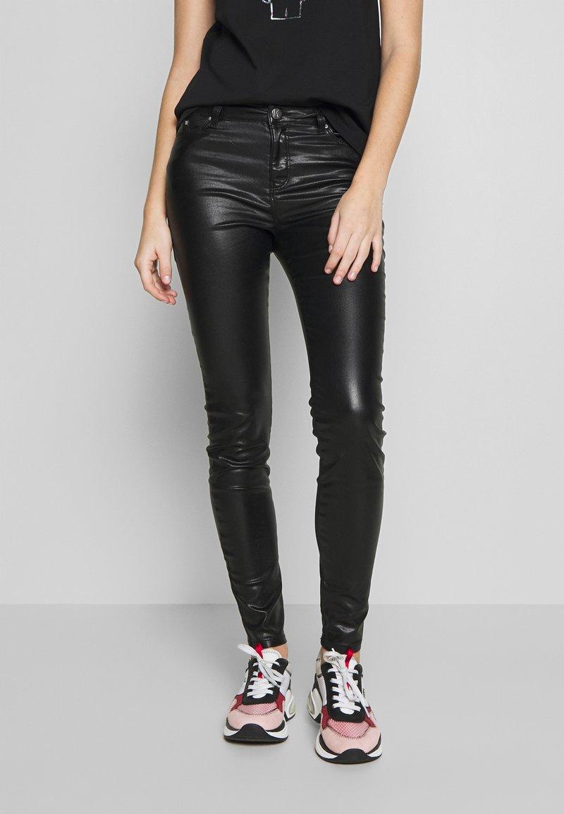 KARL LAGERFELD - COATED - Jeans Skinny Fit - black