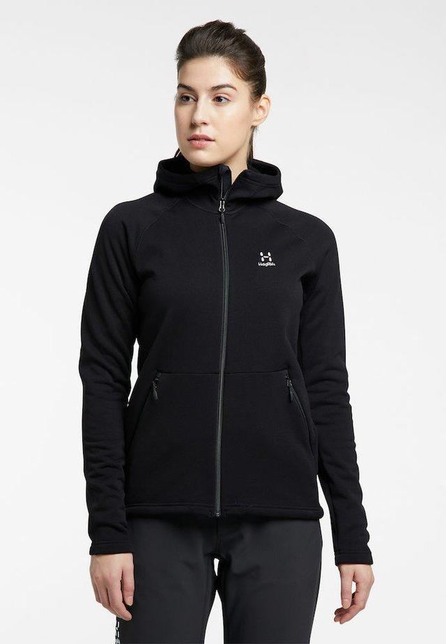 BUNGY HOOD - Fleece jacket - true black