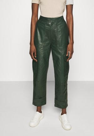 CITRINA TROUSERS - Leather trousers - kambu green