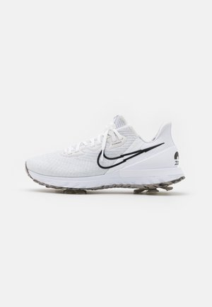 AIR ZOOM INFINITY TOUR - Obuwie do golfa - white/black/platinum tint/volt