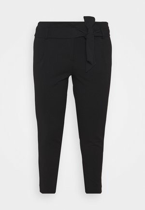 CARCAROLINUS BELT PANTS - Trousers - black