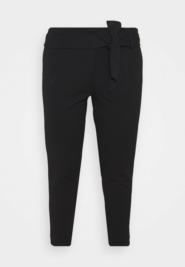CARCAROLINUS BELT PANTS - Pantaloni - black