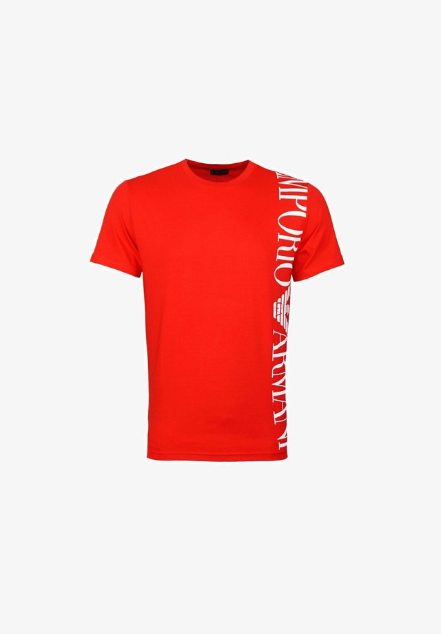 T-shirt con stampa - rot