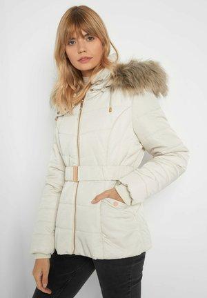 TAILLIERTE MIT GÜRTEL - Winter jacket - jasmin