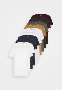 SHORT SLEEVE CREW 10 PACK - Basic T-shirt - charcole/navy
