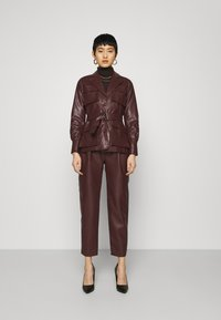 Twist & Tango - CECILIA JACKET - Faux leather jacket - reddish brown - 1