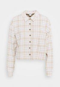 PILLAN  - Long sleeved top - beige/white forest