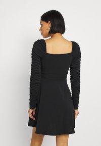 NA-KD - PAMELA REIF DRAPED  - Jersey dress - black - 2