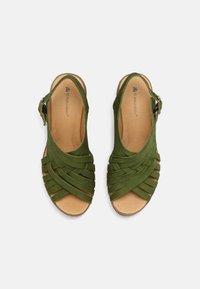 El Naturalista - LEAVES - Wedge sandals - selva - 4