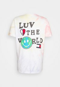 Tommy Jeans - US LUV THE WORLD TEE - T-shirt imprimé - multi-coloured - 1