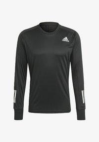 adidas Performance - OWN THE RUN LONG-SLEEVE TOP - Sports shirt - black - 5