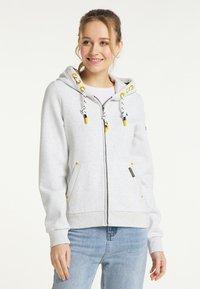 Schmuddelwedda - SWEATJACKE - Zip-up sweatshirt - wollweiss melange - 0