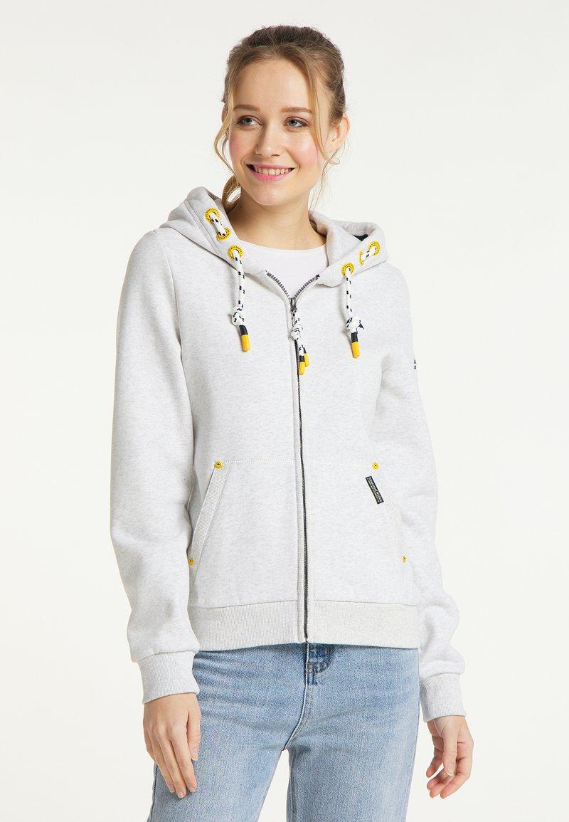 Schmuddelwedda - SWEATJACKE - Zip-up sweatshirt - wollweiss melange