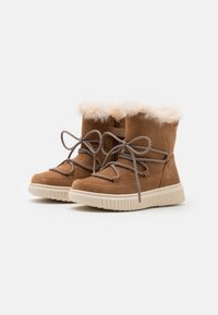 Geox - DISCOMIX GIRL - Lace-up ankle boots - whisky - 1
