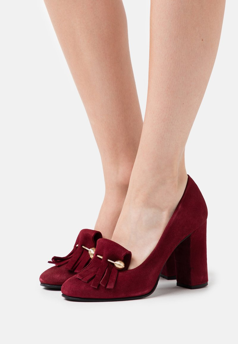 Selected Femme - SFMEL FRINGES - High heels - winetasting