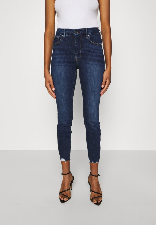 LEGS CROP - Slim fit jeans - blue