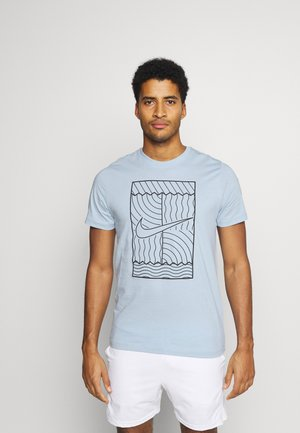 TEE COURT  - Print T-shirt - armory blue/black