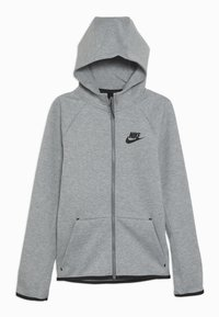 Nike Sportswear - TECH FLEECE ESSENTIALS - Zip-up hoodie - dark grey heather/black - 0