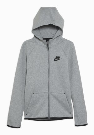 TECH FLEECE ESSENTIALS - Zip-up hoodie - dark grey heather/black