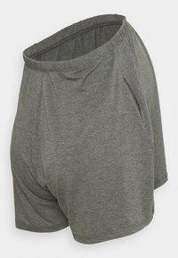 Missguided Maternity - SCRIPT NIGHTWEAR SHORTS SET - Pyjama bottoms - grey - 3