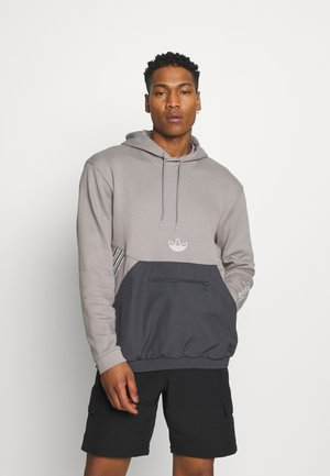 ARCH HOOD - Sweater - dove grey/solid grey