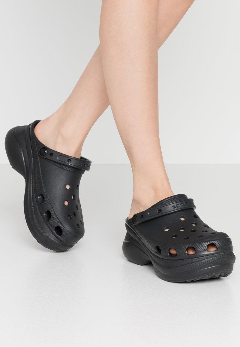 Crocs - CLASSIC BAE  - Heeled mules - black