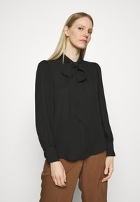 Marks & Spencer London - BLOUSE - Button-down blouse - black - 0