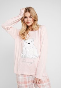 Dorothy Perkins - CHECK POLAR BEAR SET - Pyjamas - pink - 3