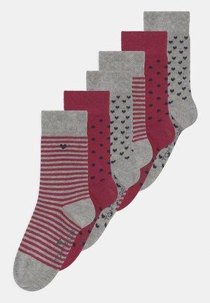 MIXED HEART DESIGN 6 PACK UNISEX - Socks - multi-coloured