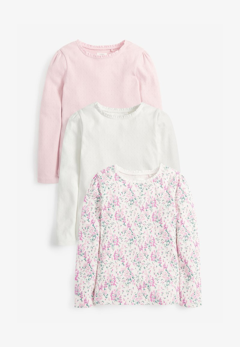 Next - 3 PACK  - Long sleeved top - pink