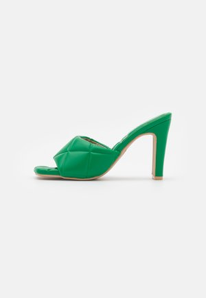 NICOLETTA - Heeled mules - green