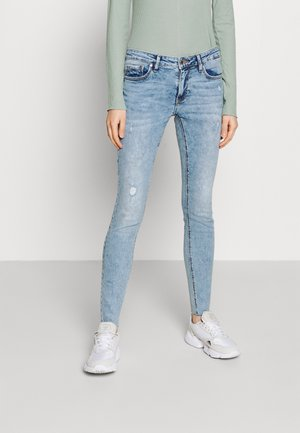 VMLYDIA RAW - Skinny džíny - light blue denim