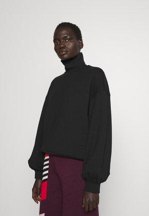 OVERSIZE LOGO DETAIL - Sweatshirt - black