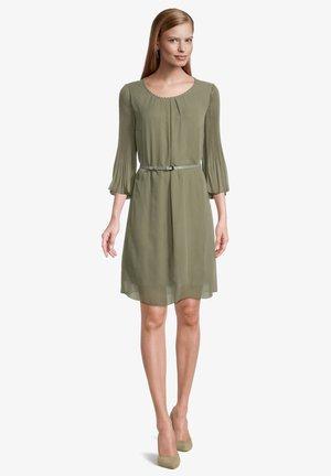 MIT PLISSEE - Day dress - pale khaki