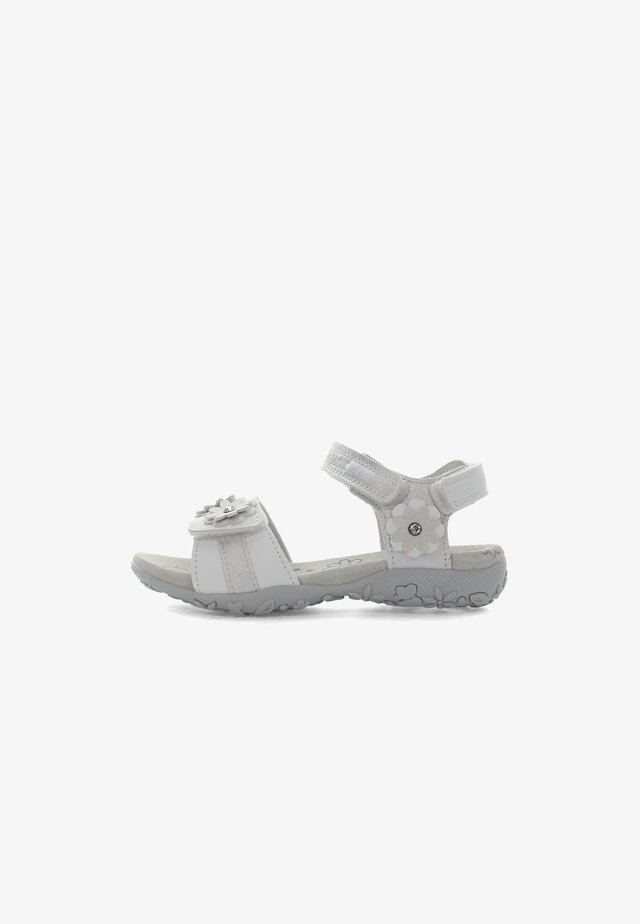 Sandaalit nilkkaremmillä - white/silver