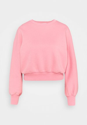 RECYCLED BALLOON SLEEVE CROPPED  - Felpa - pink