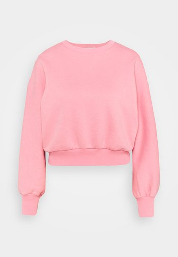RECYCLED BALLOON SLEEVE CROPPED  - Sweater - pink