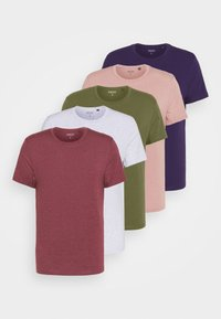 5 PACK - T-shirt - bas - frost marl/lilac marl/khaki/burg marl/blackcurrant