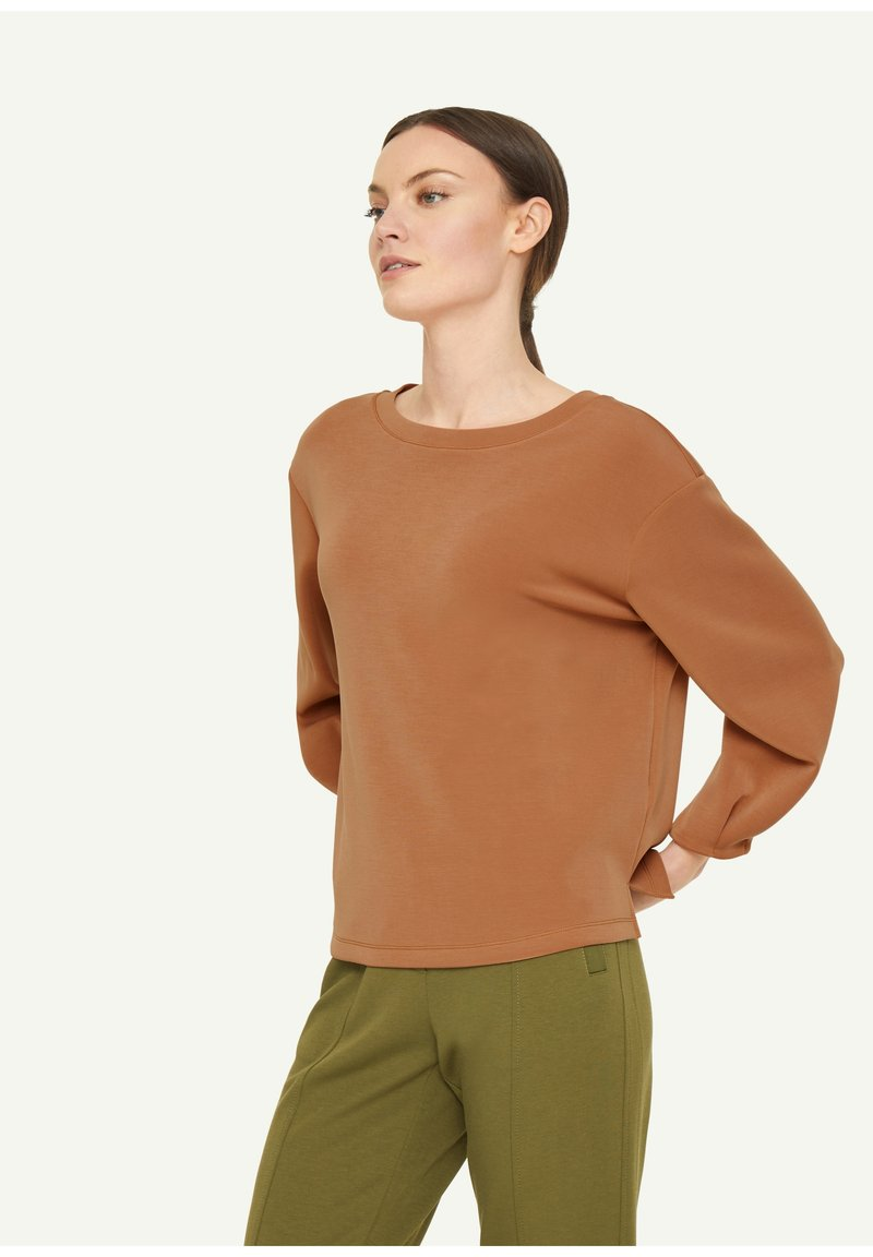 comma - Sweatshirt - tobacco