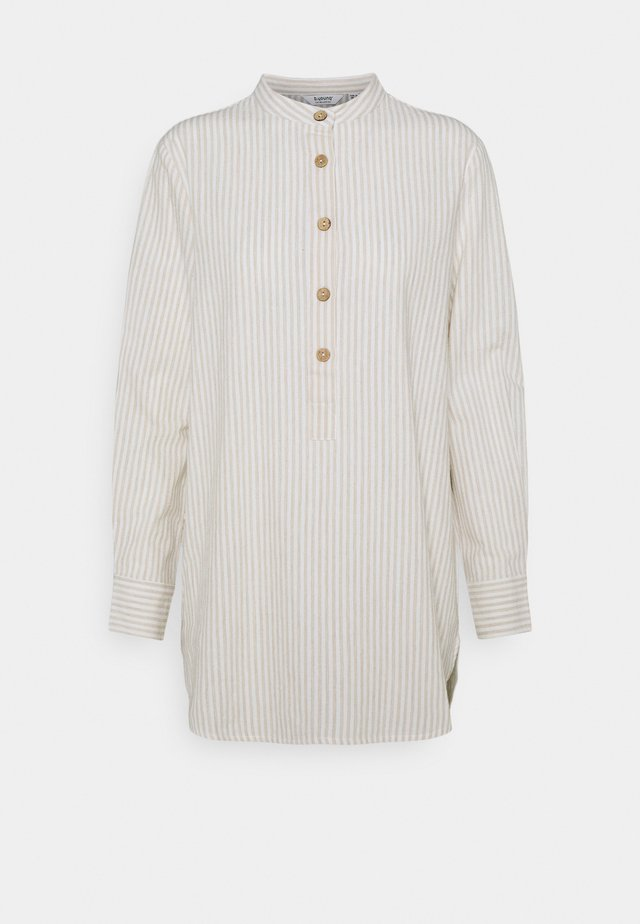 BYHARIKA LONG - Tunic - oyster mix