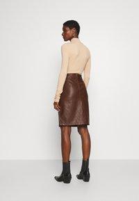 Soyaconcept - GUNILLA  - A-line skirt - brown - 2