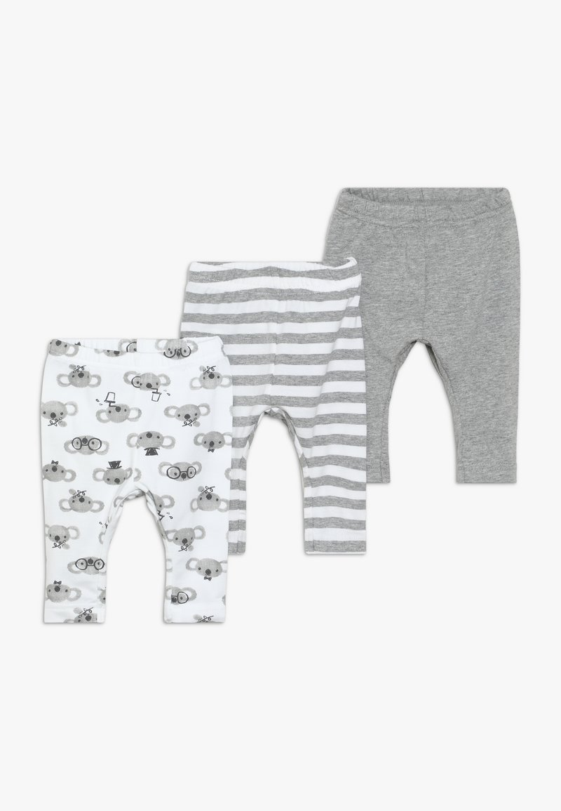 Name it - NBNLEGGING BEAR NOOS 3 PACK - Leggings - Trousers - grey melange