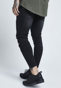 SIKSILK - DISTRESSED - Jean slim - washed black - 4