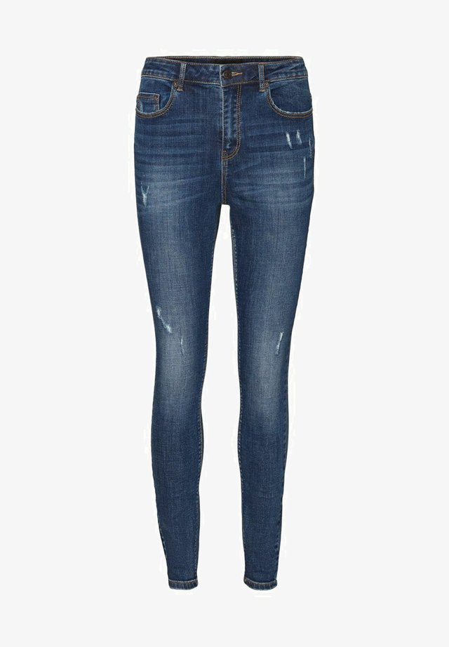 VMSOPHIA HIGH WAIST - Jeans Skinny Fit - dark blue denim