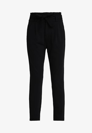 VMEVA LOOSE PAPERBAG PANT - Trousers - black