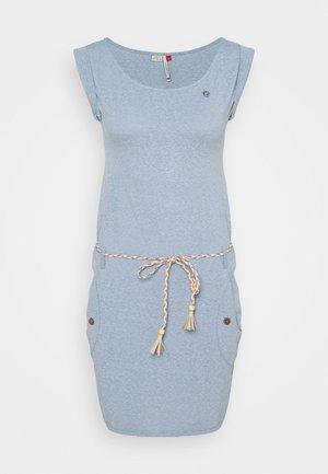 Žerzejové šaty - dusty blue