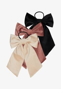 ONLY - ONLADELKA BOW ELASTIC 3 PACK - Hair styling accessory - black/creme/blush - 4