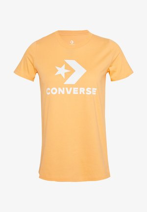 STAR CHEVRON TEE - Camiseta estampada - fuel orange