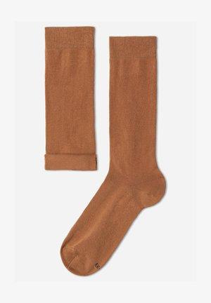 MIT FRESH FEET  - Knee high socks - cammello
