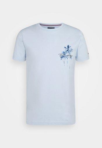 PALM BOX PRINT TEE - T-shirt con stampa - breezy blue